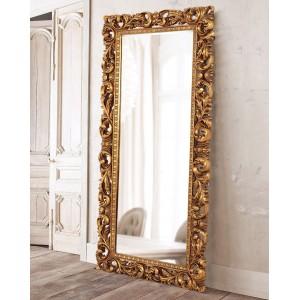 Зеркало напольное в золотой раме