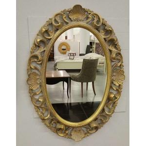 Зеркало овальное в золотой раме – VILLANOVA - H 910