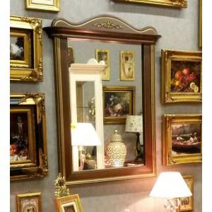 Зеркало прямоугольное в деревянной раме