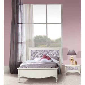 Кровать 120 x 200 – Capri, изголовье с резьбой – VILLANOVA - CP 208.3