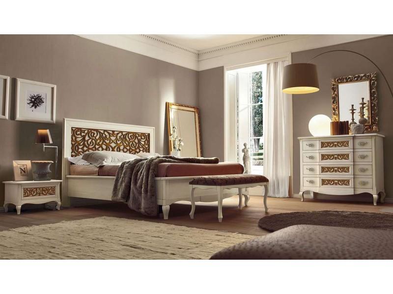 Кровать 180 x 200 – Capri, изголовье с резьбой – VILLANOVA - CP 208.2